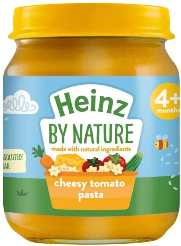 Heinz By Nature Cheesy Tomato Pasta 4+ Months, 120 g (Pack of 6)