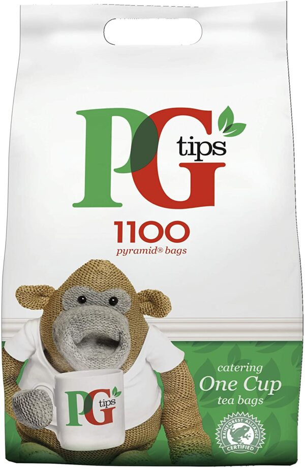 PG Tips Everyday One Cup Pyramid Tea Bags Bulk Pack Of 1100 Tasty Teabags for Catering, Birthdays, Sharing Occasions, Office Tea Breaks and Afternoon Tea