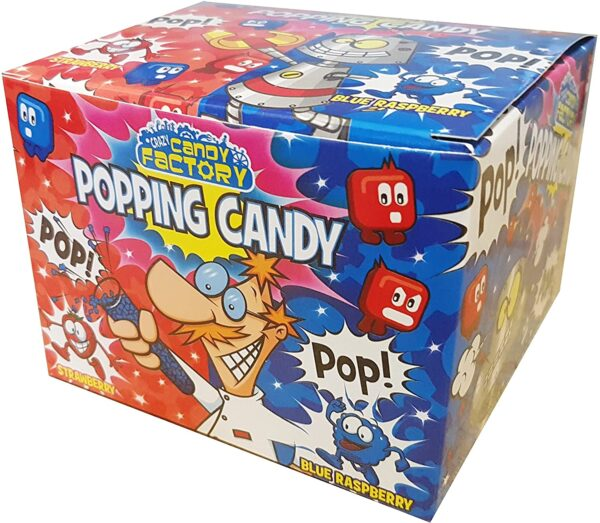 Blue Raspberry & Strawberry Fruit Flavour Popping Candy 7g (Pack of 50)
