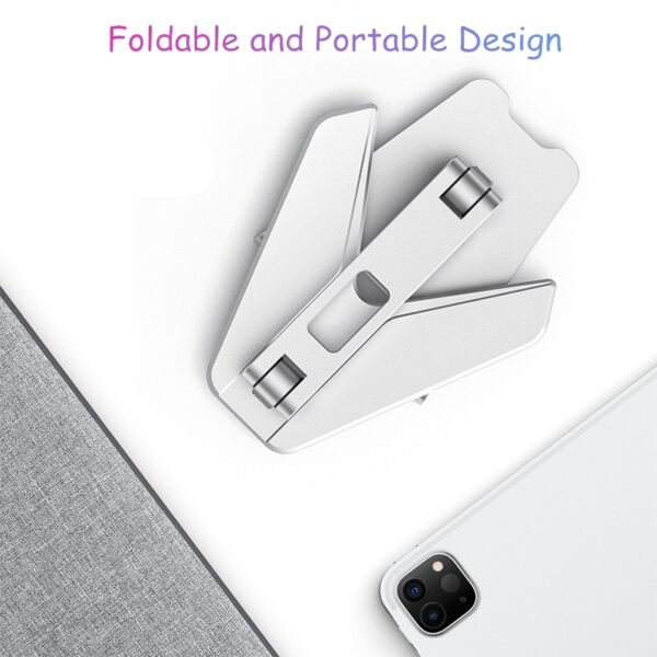 Tablet Stand Tablet Accessories, Dual Axis Adjustable Lazy Phone&Tablet Bracket, Foldable Portable Phone Stand for iPad iPhone