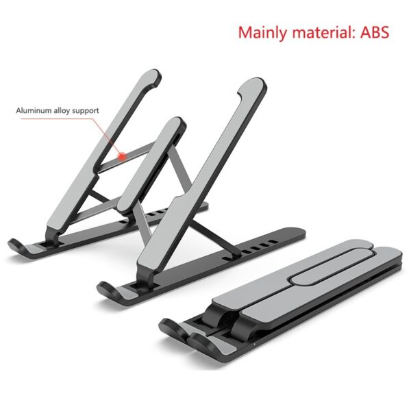 ABS Laptop Tablet Stand Adjustable Foldable Portable Desktop Holder Mounts Laptop Accessories For Macbook Pro Air Notebook Stand