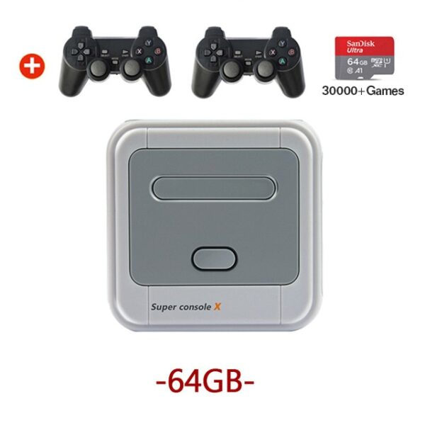 Retro Mini TV/ Video Game Console For PS1/N64/DC Built-in 50 Emulators with 41000 Games Support HDMI Out With Wireless Gamepad