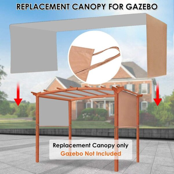 2020 Canopy Cover Sturdy Durable Replacement Awning Sun Shade Universal for Pergola Structures