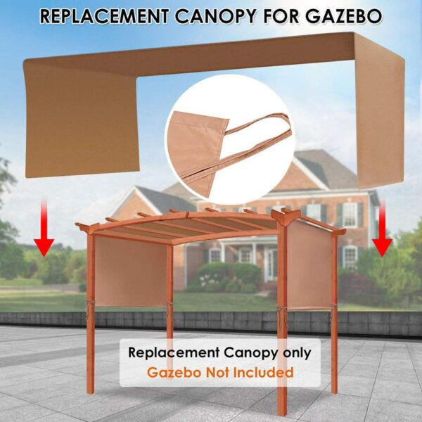 1Pcs Outdoor Canopy Cover Sturdy Durable Replacement Awning Sun Shade Universal For Pergola Structures (Cover ONLY, No Shelves)
