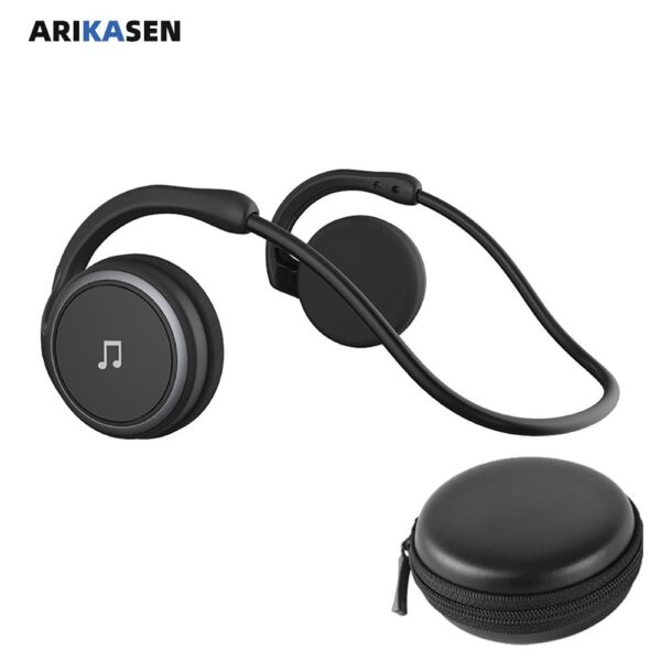 A6 Bluetooth 5.0 Headphones Sports Running Wireless Earphone comfortable 12 hours music Portable Bluetooth Headset with mic case