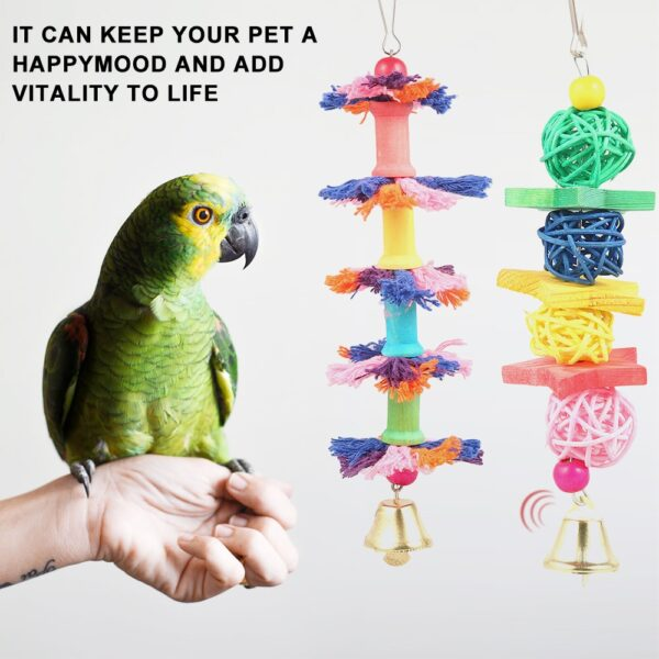 10PCS/Set Combination Parrot Toy Bird Articles Parrot Bite Toy Bird Toys Parrot Funny Swing Ball Bell Standing Training Toys
