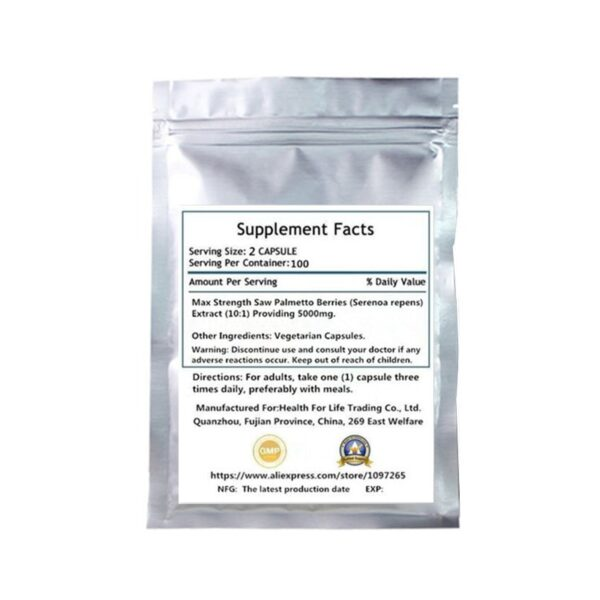Supplement For Prostate Health, Saw Palmetto Extract with Pumpkin Seed Oil and Zinc, Men's Health*, 100 pcs