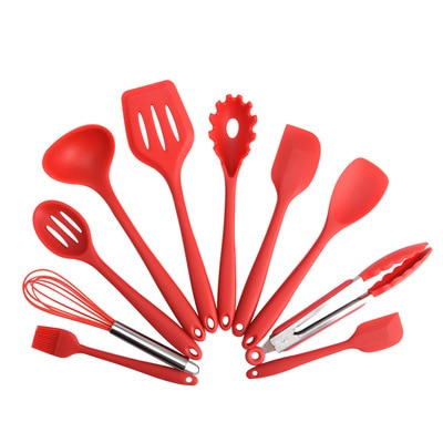 5/10/11 Pcs Heat Resistant Silicone Cookware Set Nonstick Cooking Tools Kitchen Baking Tool Kit Utensils Kitchen Accessories