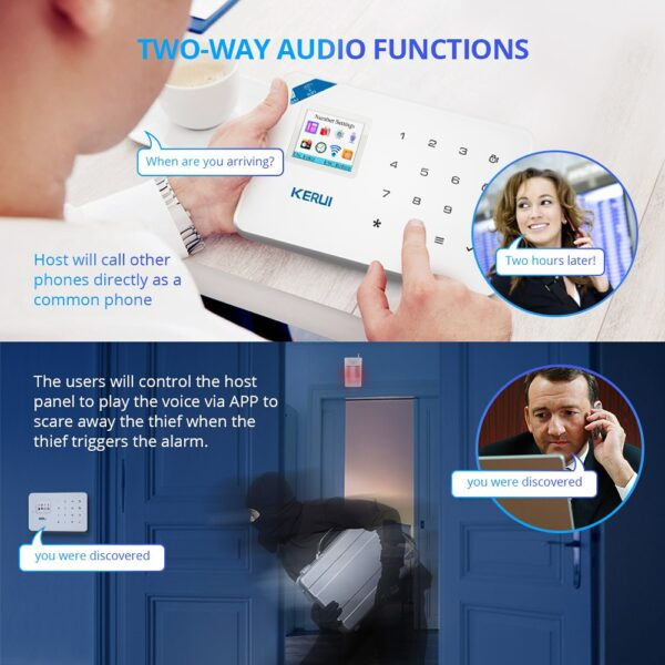 KERUI W18 Wireless WiFi GSM Home Security Alarm System Burglar Alarm Kit Android ios APP Control With Remote Controller