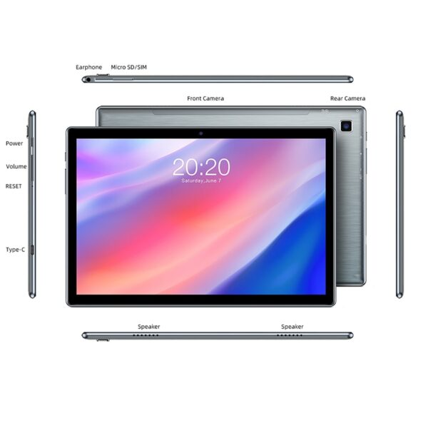 """Teclast P20HD 10.1"""" Android 10 Tablet 1920x1200 SC9863A Octa Core 4GB RAM 64GB ROM 4G Network AI Speed-up Tablets PC Dual Wifi"""