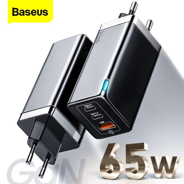 Baseus GAN 65W USB C Charger Quick Charge 4.0 3.0 QC4.0 QC PD3.0 PD USB-C Type C Fast USB Charger For Macbook Pro iPhone Samsung
