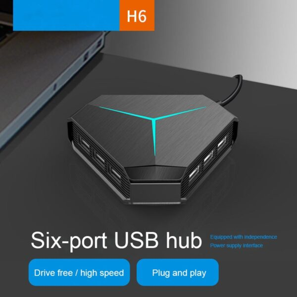 Multi USB 3.0 Hub USB Splitter TF SD Card Reader with microphone interface High Speed 6 Ports Hub For PC Computer Accessories