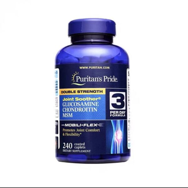 Hot sale Glucosamine chondroitin msm festival top supplement sports Joint Soother240 caplets supports Joint Health protein slice