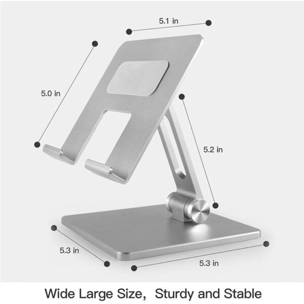 Aluminum Tablet Stand Desk Foldable Holder Dock For iPad Pro 12.9 11 10.2 9.7 Air Mini Samsung Xiaomi Huawei Support Accessories