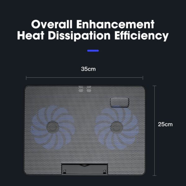 Ergonomic Laptop Fans Cooling Pad Notebook Cooler Keyboard Tray 12-17 Inches Computer Desk Stand Holder for Macbook Accessories