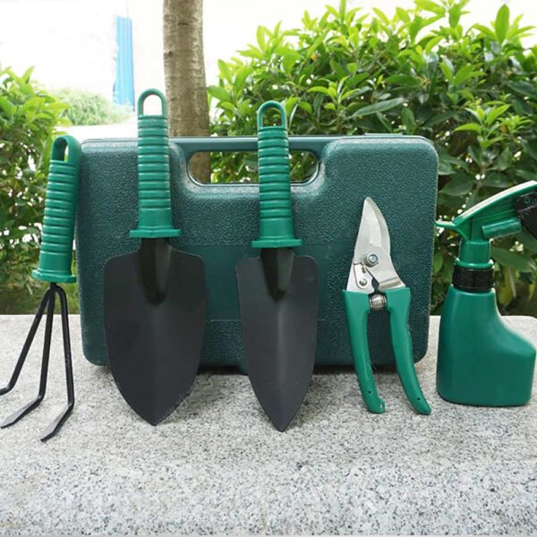 Household Gardening Tools Stainless Steel Branch Shears Flower Potted Planting Small Shovel Five-Piece Gardening Set