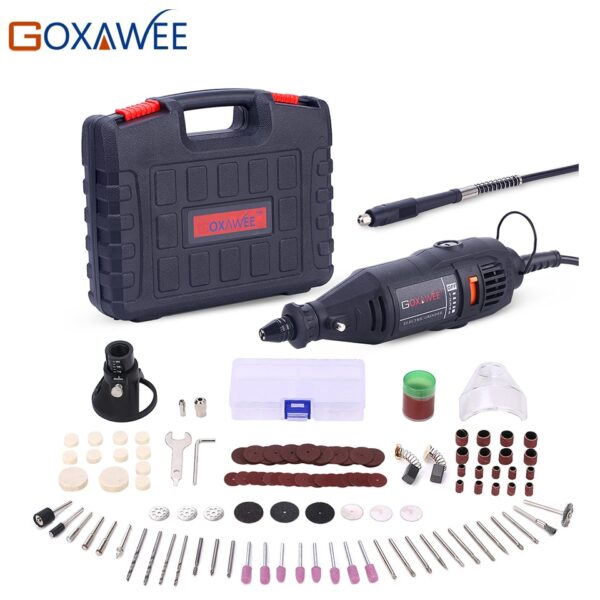 GOXAWEE 110V 220V Power Tools Electric Mini Drill with 0.3-3.2mm Universal Chuck & Shiled Rotary Tools For Dremel 3000 4000