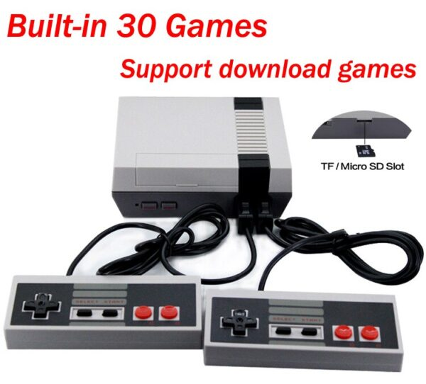 2020 Mini Retro 8 bit Video TV Electronic 30 Game Console Game Player To TV nes Classic Edition Download Micro SD/TF Card