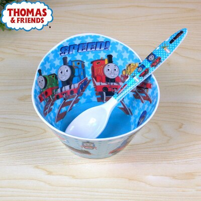 Thomas Children tableware baby cutlery children's cutlery set spoon bowl food tray three grid food container combination