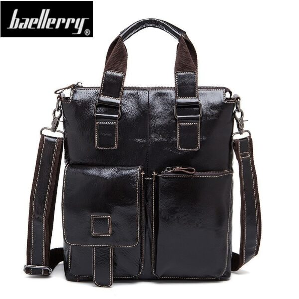 New brand 2018 Genuine Leather Men Bag Briefcases male Leather business Ipad Bags Crossbody Bags Mens Messenger shoulder Bag