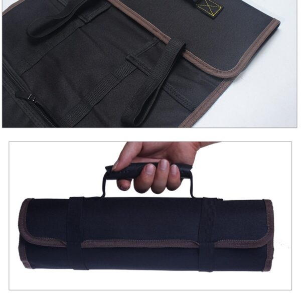 New Multifunction Oxford Cloth Folding Wrench Bag Tool Roll Storage Portable Case Organizer Holder Pocket Tools Pouch