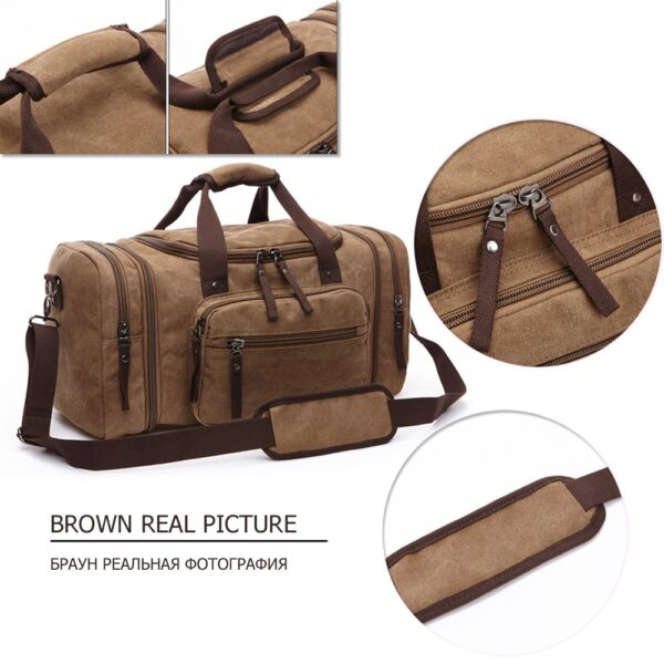 MARKROYAL Canvas Travel Bags Large Capacity Carry On Luggage Bags Men Duffel Bag Travel Tote Weekend Bag Dropshipping