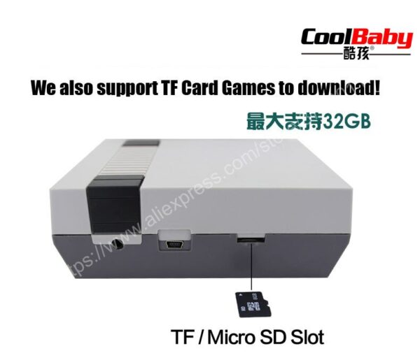 5 pcs Mini Retro 8 bit Video TV Electronic 30 Game Console Game Player To TV nes Classic Edition Download Micro SD/TF Card