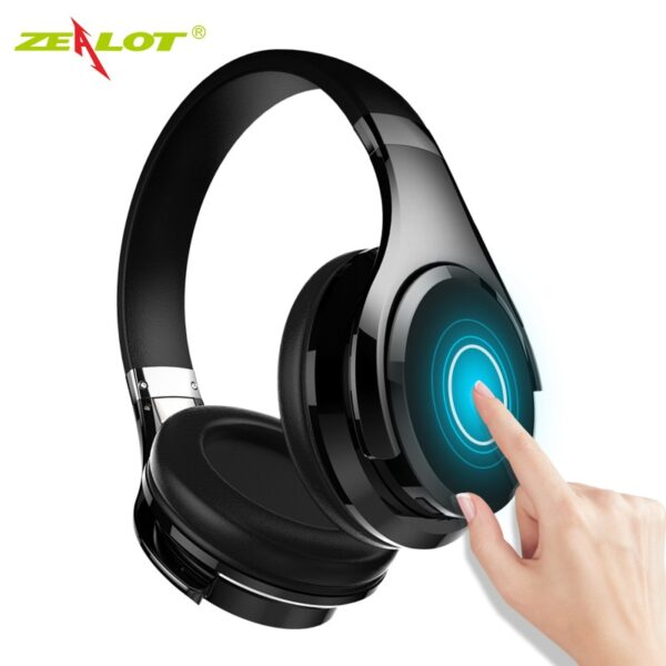 ZEALOT B21 Wireless Bluetooth Headphones Foldable Bass Wireless Headset with Microphone for Computer,Phones Touch Control