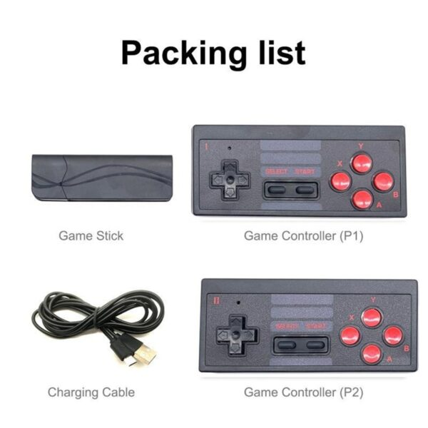 HD Video Game Console Built in 628 Classic Games Mini Retro Game Console Wireless Controller HDMI Output Dual Players