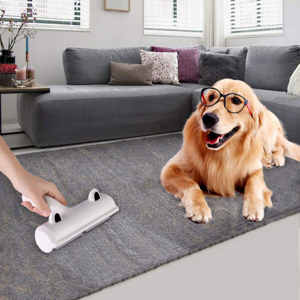 Pet Hair Remover Roller Dog Cat Hair Cleaning Brush Removing Dog Cat Hair From Furniture Carpets Clothing Self-Cleaning Lint