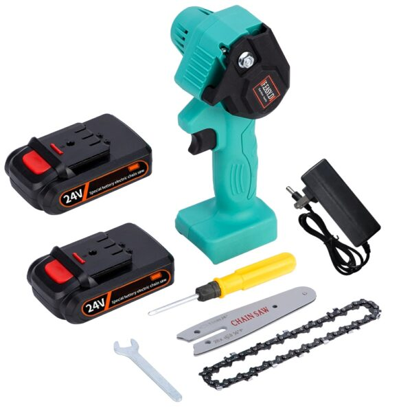 Mini Electric Saw Chainsaw 24V For Woodworking Garden Tools With Batterys Brushless Chain Saws Wood Cutters