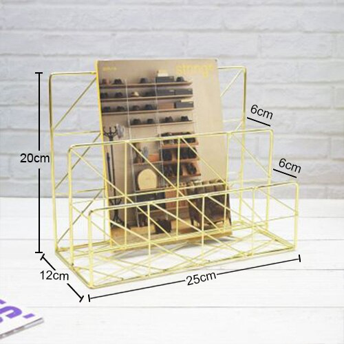 Storage Basket Cosmetic Sundries Iron Box Desk Creative Metal Wrought Pen Holder Home Organization and Storage Stash Can