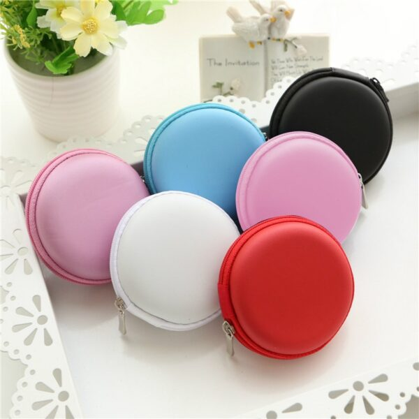 Hot Earphone Data Line Cables Storage Case Headphone Storage Box Case Container Coin Colorful Two Styles