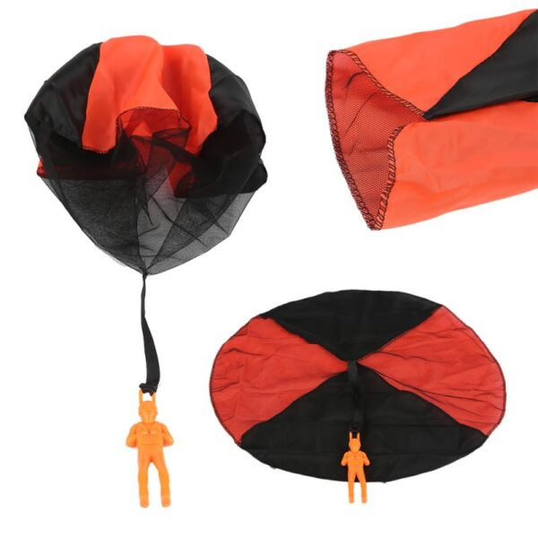 Kid Play House Hand Throwing Mini Soldier Parachute Toys Children's Educational Parachute Game Outdoor Fun Sports Children Toys