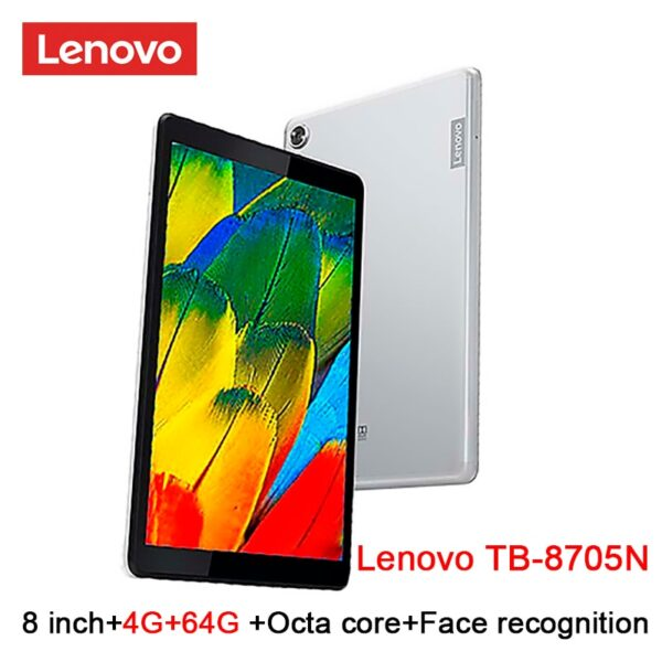 Lenovo M8 smart tablet TB 8705F/N 8inch 3G / 4G RAM 32G / 64G ROM Octa Core WiFi /LTE version 5100mAh face recognition FHD dolby