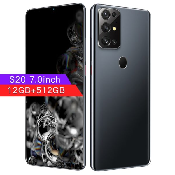 Newest S20 Android 10.0 5G 12+512GB Smartphone MTK-6889 7inch Mobile Phone 24+48MP HD+ Camera 10 Core Dual SIM Card Cellphones